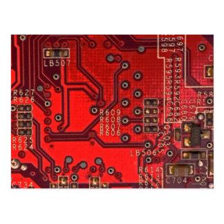 placa de circuito tarjetas postales
