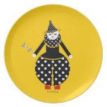 Placa de Cirque de Martzkins Clown Platos De Comidas