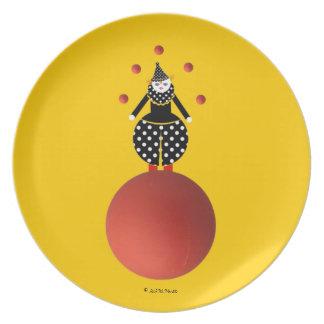 Placa de Cirque de Martzkins Clown Plato