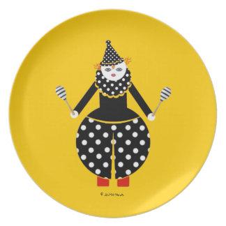 Placa de Cirque de Martzkins Clown Plato De Cena