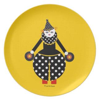 Placa de Cirque de Martzkins Clown Plato De Comida