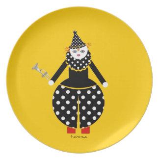 Placa de Cirque de Martzkins Clown Platos