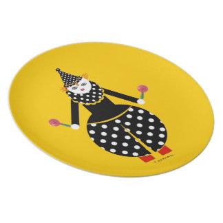 Placa de Cirque de Martzkins Clown Platos Para Fiestas