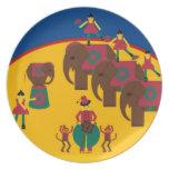 Placa de Cirque de Martzkins Elephant Plato
