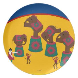 Placa de Cirque de Martzkins Elephant Platos Para Fiestas