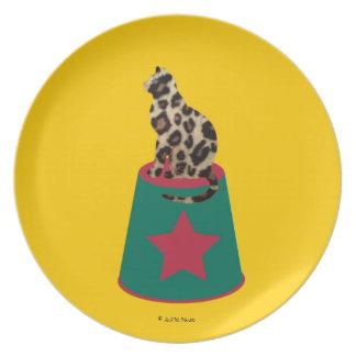 Placa de Cirque de Martzkins Leopard Plato De Cena
