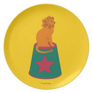 Placa de Cirque de Martzkins Lion Plato De Cena