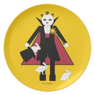 Placa de Cirque de Martzkins Magician Platos De Comidas