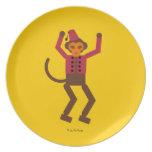 Placa de Cirque de Martzkins Monkey Platos De Comidas