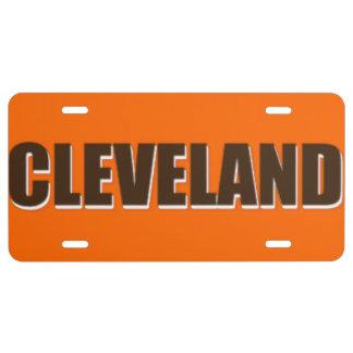 Placa de Cleveland Placa De Matrícula