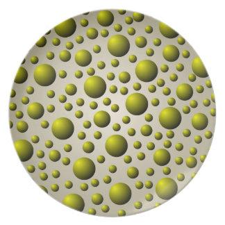 Placa de cobre amarillo del modelo de la bola plato
