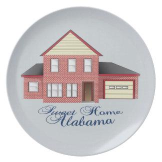 Placa de colector casera dulce de Alabama Plato