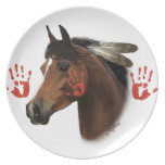 Placa de colector del caballo de guerra plato para fiesta