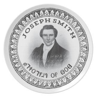 Placa de colectores de dios de Joseph Smith Plato Para Fiesta