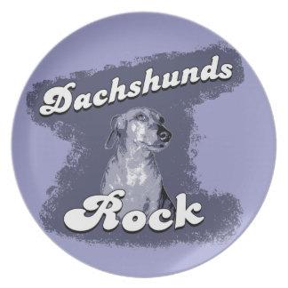 Placa de colectores de la roca de los Dachshunds Platos