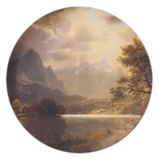 Placa de Colorado del parque de Bierstadt Estes Plato Para Fiesta
