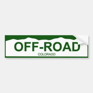 placa de Colorado nueva - CAMPO A TRAVÉS Etiqueta De Parachoque