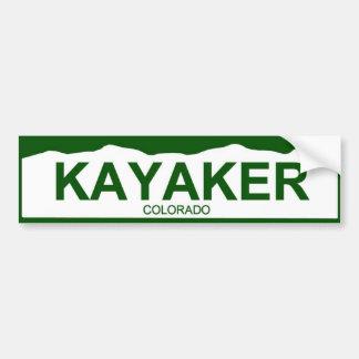 placa de Colorado nueva - KAYAKER Etiqueta De Parachoque