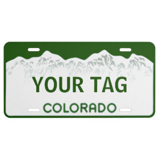 Placa de Colorado Placa De Matrícula