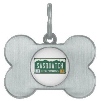 Placa de Colorado Sasquatch Placas De Mascota