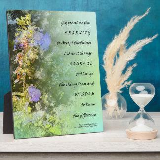 Placa de Companulas del rezo de la serenidad