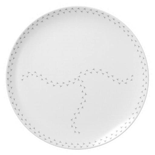 Placa de control partida de la porción de la maner platos para fiestas