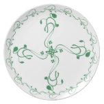 Placa de control verde de la porción de la vid platos