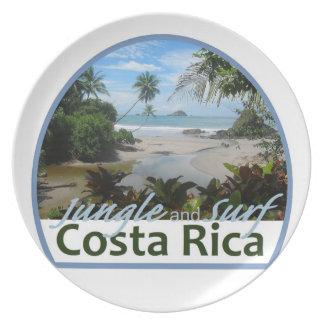 Placa de Costa Rica Platos Para Fiestas