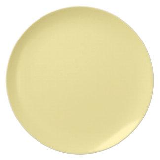 Placa de Crème del plátano Plato