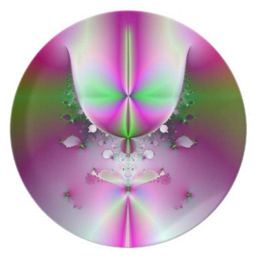 Placa de cristal de Champán Platos De Comidas