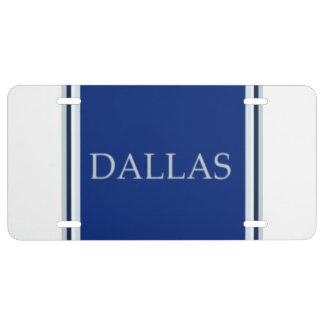 Placa de Dallas Placa De Matrícula