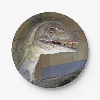 Placa de Deinonychus del dinosaurio Platos De Papel