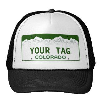 Placa de encargo de Colorado Gorros