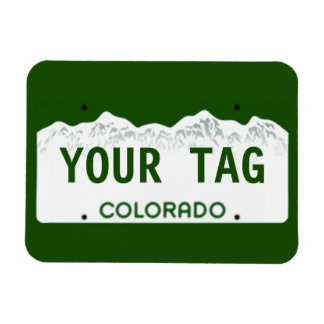 Placa de encargo de Colorado Iman Flexible