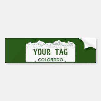 Placa de encargo de Colorado Pegatina Para Auto