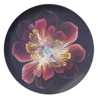Placa de encargo de la melamina de la flor el | platos para fiestas