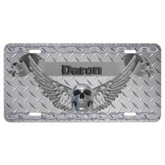 Placa de encargo de la placa del diamante del crom placa de matrícula