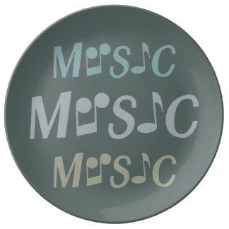 Placa de encargo de la porcelana de la MÚSICA Plato De Cerámica