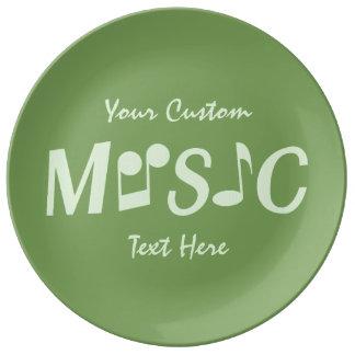 Placa de encargo de la porcelana de la MÚSICA Platos De Cerámica