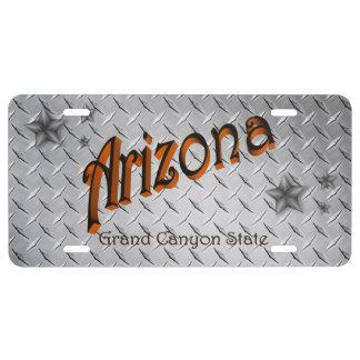 Placa de encargo del estado de Arizona Placa De Matrícula