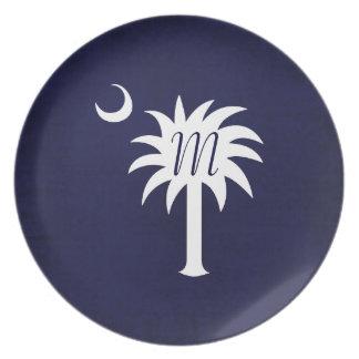 Placa de encargo del Palmetto de Carolina del Sur  Platos De Comidas