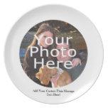 Placa de encargo del regalo de la foto con el mens platos de comidas