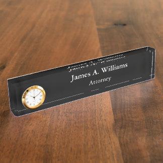 Placa de encargo simple profesional del escritorio