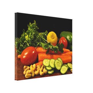Placa de ensalada del Veggie Impresiones De Lienzo