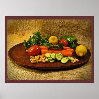 Placa de ensalada del Veggie Póster