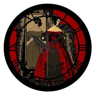 Placa de Fasion del Victorian mejorada Reloj Redondo Grande