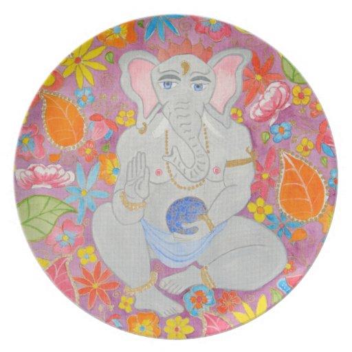 Placa de Ganesh Platos De Comidas