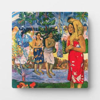 Placa de Gauguin Ia Orana Maria
