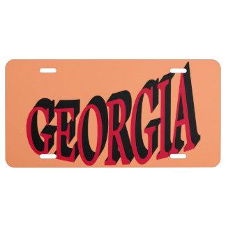 Placa de Georgia Placa De Matrícula