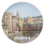 Placa de Girona (Gerona) Plato De Cena